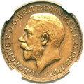 South Africa: George V bronze pattern Sovereign 1928-SA