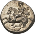 Ancients:Greek, Ancients: Tarentum. Ca. 280 BC. AR stater or nomos (7.84 gm). ...