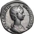 Ancients:Roman Imperial, Ancients: Orbiana, wife of Severus Alexander (Augusta, AD 225-227).Orichalcum sestertius (19.36 gm). ...