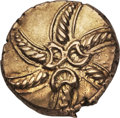 Ancients:Greek, Ancients: Catuvellauni & Trinovantes. Addedomarus (ca. 45-25BC). AV stater (5.62 gm). ...