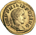 Ancients:Roman Imperial, Ancients: Philip II (AD 247-249). AV aureus (4.71 gm). ...