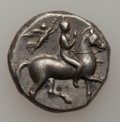 Ancients:Ancient Lots  , Ancients: CALABRIA. Tarentum. Ca. 365-235 BC. Lot of three ARstaters or nomoi. ... (Total: 3 coins)