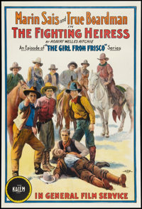 "The Fighting Heiress (General, 1916). One Sheet (27"" X 41""). Thriller"