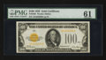 Small Size:Gold Certificates, Fr. 2405 $100 1928 Gold Certificate. PMG Uncirculated 61.. ...