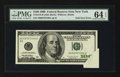 Error Notes:Foldovers, Fr. 2175-B $100 1996 Federal Reserve Note. PMG Choice Uncirculated64 EPQ.. ...
