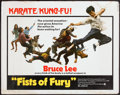 "Movie Posters:Action, Fists of Fury (National General, 1973). Half Sheet (22"" X 28"").Action.. ..."