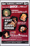 "Movie Posters:Horror, Night of Bloody Horror (Howco, 1969). One Sheet (27"" X 41""). Horror.. ..."