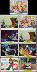 """Movie Posters:Animation, Peter Pan (Buena Vista, R-1969). Title Lobby Card & Lobby Cards (8) (11"""" X 14""""). Animation.. ... (Total: 9 Items)"""