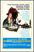 "Movie Posters:Mystery, The Private Life of Sherlock Holmes (United Artists, 1970). OneSheet (27"" X 41""). Style A. Mystery.. ..."