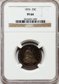 Proof Seated Quarters, 1876 25C PR64 NGC....
