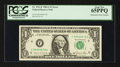 Error Notes:Mismatched Serial Numbers, Fr. 1912-F $1 1981A Federal Reserve Note. PCGS Gem New 65PPQ.. ...