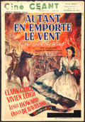 "Movie Posters:Academy Award Winners, Gone with the Wind (MGM, 1939). Pre-War Belgian (23.25"" X 33.5"").Academy Award Winners.. ..."