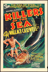 "Killers of the Sea (Grand National, 1937). One Sheet (27"" X 41""). Documentary"