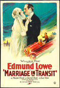 "Movie Posters:Comedy, Marriage in Transit (Fox, 1925). One Sheet (27"" X 41""). Comedy....."