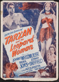"Movie Posters:Adventure, Tarzan and the Leopard Woman (RKO, 1946). Window Card (14"" X19.25""). Adventure.. ..."
