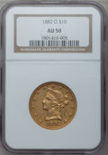 Liberty Eagles, 1882-O $10 AU50 NGC. Variety 1....