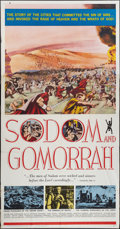 "Movie Posters:Historical Drama, Sodom and Gomorrah (20th Century Fox, 1963). Three Sheet (41"" X 81""). Historical Drama.. ..."