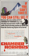 """Movie Posters:Horror, Chamber of Horrors (Warner Brothers, 1966). Three Sheet (41"""" X81""""). Horror.. ..."""