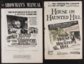 """Movie Posters:Horror, Blood of the Vampire & Other Lot (Universal International, 1958). Uncut Pressbook (10 Pages, 12"""" X 18"""") & Pressbook (8 Pages... (Total: 2 Items)"""