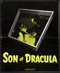 """Movie Posters:Horror, Son of Dracula (Universal, 1943). Uncut Pressbook (14 Pages, 11.5"""" X 14""""). Horror.. ..."""
