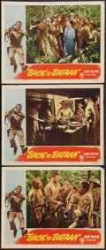 "Movie Posters:War, Back to Bataan (RKO, 1945). Lobby Cards (3) (11"" X 14""). War.. ...(Total: 3 Items)"