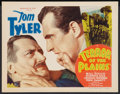 """Movie Posters:Western, Terror of the Plains (William Steiner, 1934). Title Lobby Card (11"""" X 14""""). Western.. ..."""