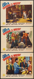"""Movie Posters:Western, Born to the West (Paramount, 1937). Lobby Cards (3) (11"""" X 14"""").Western.. ... (Total: 3 Items)"""