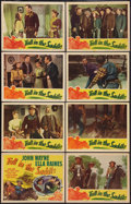 """Movie Posters:Western, Tall in the Saddle (RKO, 1944). Lobby Card Set of 8 (11"""" X 14""""). Western.. ... (Total: 8 Items)"""