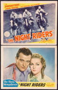 "Movie Posters:Western, The Night Riders (Republic, 1939). Title Lobby Card and Lobby Card (11"" X 14""). Western.. ... (Total: 2 Items)"