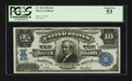 Large Size:Silver Certificates, Fr. 302 $10 1908 Silver Certificate PCGS About New 53.. ...