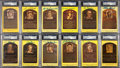 Baseball Collectibles:Others, Baseball Greats Signed Hall of Fame Plaque Postcards lot of 12....