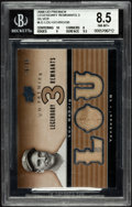 "Baseball Cards:Singles (1970-Now), 2008 Upper Deck Premier ""Legendary Remnants"" Lou Gehrig JerseySwatch Card BVG 8.5. ..."