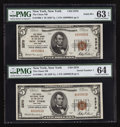 National Bank Notes:New York, New York, NY - $5 1929 Ty. 1 The Chase NB Ch. # 2370. ... (Total: 2notes)
