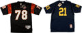 Football Collectibles:Uniforms, Anthony Munoz and Desmond Howard Signed Jerseys Lot of 2....