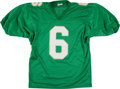 Football Collectibles:Uniforms, Jerome Bettis Signed Notre Dame Fighting Irish Jersey. ...