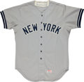 Baseball Collectibles:Uniforms, Early 1980's Jim Spencer Game Worn New York Yankees Jersey....