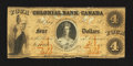Canadian Currency: , Toronto, CW- Colonial Bank of Canada $4 April 4, 1859 Ch. #130-10-02-08. ...
