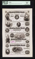Obsoletes By State:Massachusetts, Provincetown, MA- Provincetown Bank $3-$5-$10-$20 G6-G8-G10-G12 Uncut Proof Sheet. ...