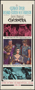 "Movie Posters:Historical Drama, Cleopatra (20th Century Fox, 1963). Insert (14"" X 36""). HistoricalDrama.. ..."