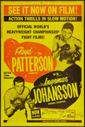 """Movie Posters:Sports, Patterson vs. Johansson (United Artists, 1961). Heavyweight Championship Fight Poster (26.75"""" X 40.25""""). Sports.. ..."""
