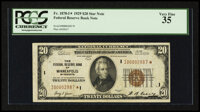 Fr. 1870-I $20 1929 Federal Reserve Bank Note. PCGS Very Fine 35