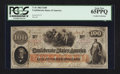 Confederate Notes:1862 Issues, T41 $100 1862 PF-5 CC.. ...