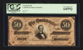 Confederate Notes:1864 Issues, T66 $50 1864 PF-8.. ...