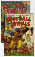 Golden Age (1938-1955):Non-Fiction, Football Thrills #1 and 2 Group (Ziff-Davis, 1951-52)....