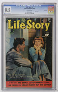 Golden Age (1938-1955):Romance, Life Story V1#1 Carson City pedigree (Fawcett, 1949) CGC VF+ 8.5Off-white pages....
