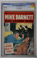 Golden Age (1938-1955):Crime, Mike Barnett, Man Against Crime #3 Crowley Copy pedigree (Fawcett, 1952) CGC NM 9.4 Cream to off-white pages....