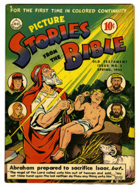 """Picture Stories from the Bible Old Testament #3 Davis Crippen (""""D"""" Copy) pedigree (DC, 1943) Condition: FN/VF..."""