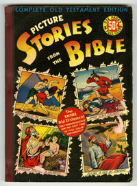 "Picture Stories from the Bible Complete Old Testament - Davis Crippen (""D"" Copy) pedigree (DC, 1943) Condition..."