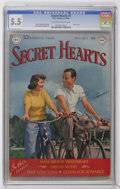 Golden Age (1938-1955):Romance, Secret Hearts #1 (DC, 1949) CGC FN- 5.5 Off-white to white pages....