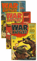 Golden Age (1938-1955):War, War Battles Group (Harvey, 1952-53) Condition: Average VG+....(Total: 6 Comic Books)